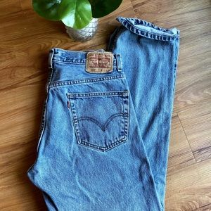 Levi's 505 Relaxed Fit Cotton Denim Jeans 33x32